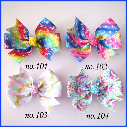 """1000 BLESSING Good Girl 3.25"""" Abby Hair Bow Clip Unicorn Accessories Wholesale"""