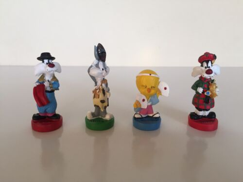 WB Looney Tunes Around The World Figurine Cake Toppers Toy Bundle