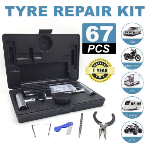 Repair Tyre Puncture Recovery 67PCS Kit Heavy Duty 4WD Offroad Plugs Tubeless