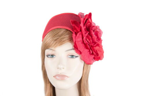 Red winter racing fascinator by Fillies Collection Made in Australia RRP $119