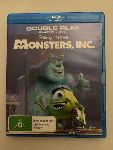 Monsters, Inc. (Bluray + DVD) Double Play Animation Disney Movie