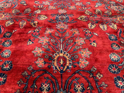 ANTIQUE  P.....N AMERICAN SAROUK MOHAJERAN  RUG 9X12 FT CIR 1900