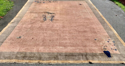 Antique Hand Made Peking  Chinese RUG 9x11ft from Ca 1890