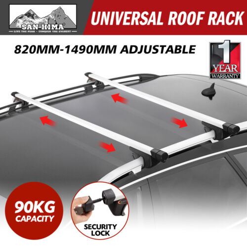 Universal Car Top Roof Rack Cross Bars Aluminium Telescopic Adjustable Silver <br/> ✔Top Seller✔Free Delivery✔Fast Dispatch✔AU Stock