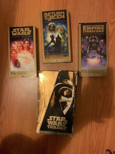 Star Wars Trilogy VHS Video Box Set Special Edition 1997 (PAL)