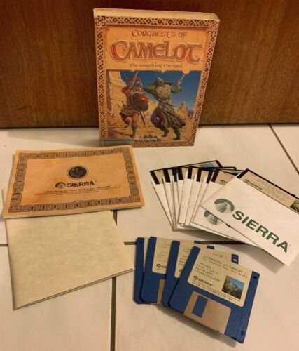 Conquests Of Camelot The Search For The Grail PC 3.5 5 1/4 Floppy Disc Manual