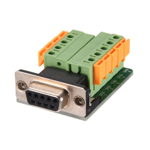 DB9-M6 2 Row 5mm Pitch Female Terminals Board Rivet Tooth Type D-Sub Connector