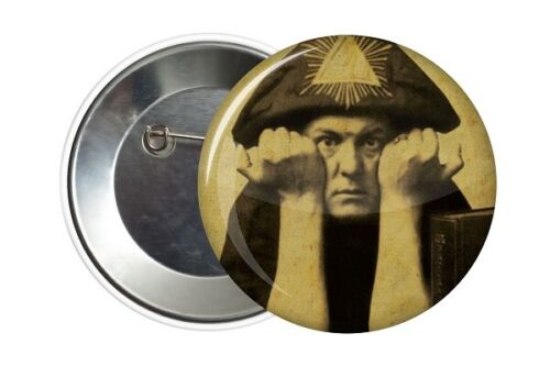 Badge Pin Button Aleister Crowley 666 38 mm