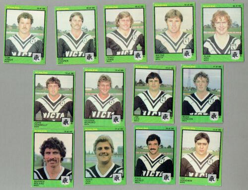 #d410.  1982  Western Suburbs Scanlens Rugby League Cards