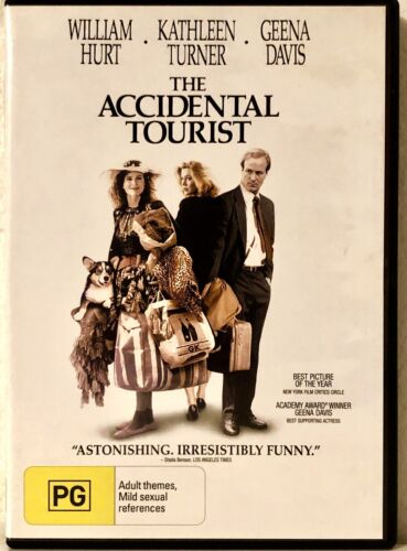 The Accidental Tourist GEENA DAVIS WILLIAM HURT  R4 DVD Like New  RARE