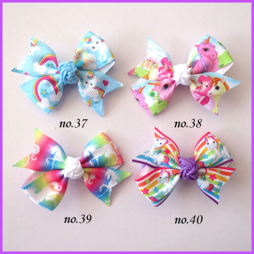 """500 BLESSING Good Girl 2.5"""" Wing Hair Bow Clip Unicorn Accessories Wholesale"""