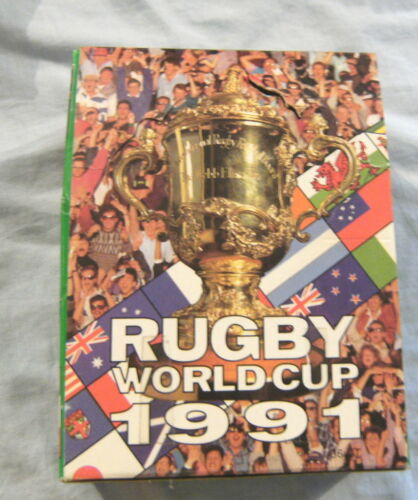 #HH.  1991 RUGBY UNION WORLD CUP CARDS COUNTER DISPLAY BOX - REGINARugby Union Cards - 2969