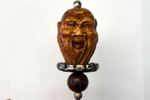 Chinese Heidao Hand Carved Nut Wood Pin