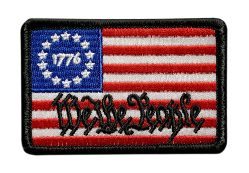 """We the People Betsy Ross 1776 Flag Patch[""""VELCRO® brand"""" Fastener - WP5]Army - 48824"""