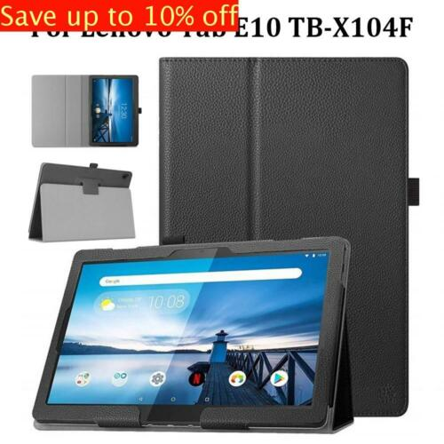 """Ultra Slim Tablet Cover Smart Case Leather For Lenovo Tab E10 TB-X104F 10.1"""""""