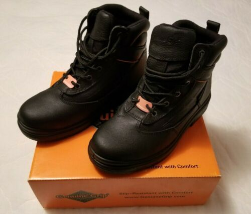 GENIUNE GRIP Leather Boots.Mens Size 8w,Womens Size 10w.Unisex.