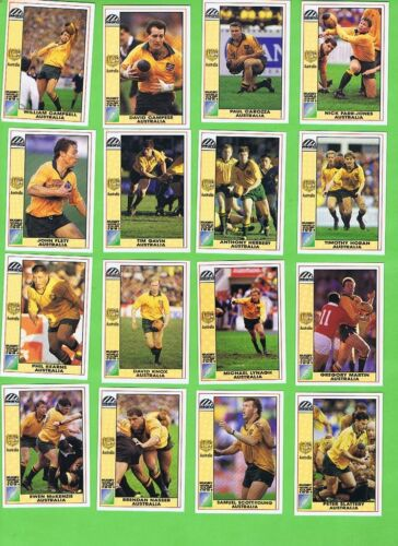#D557. 1991  AUSTRALIA  WALLABIES RUGBY UNION WORLD CUP CARDSRugby Union Cards - 2969