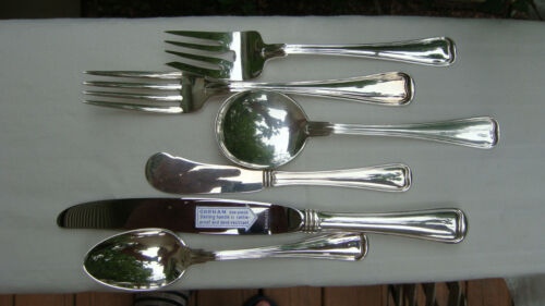 ANTIQUE GORHAM OLD FRENCH STERLING SILVER SIX PIECE PLACE SETTING, CIRCA 1904