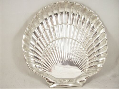 VINTAGE STERLING SILVER SCALLOPED SEA SHELL, GORHAM CORP.