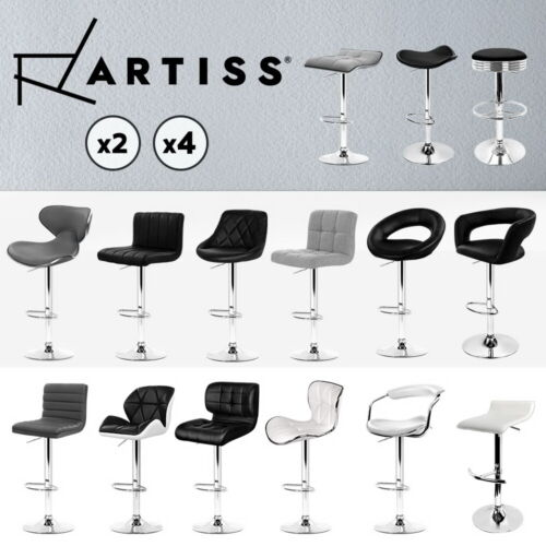 Artiss Kitchen Bar Stools Gas Lift Stool Chairs Swivel Barstools Leather Black <br/> ✔16 Models✔SGS Tested Gas Lift✔Adjustable & Swivel