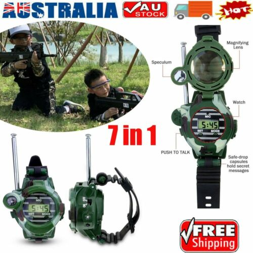 Kids Walkie Talkie Two-way Walky-Talky Watch Cool Outdoor Toy For Boys Girls KC