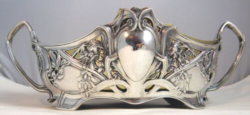 SILVER GERMAN JUGENDSTIL JARDINIERE TABLE CENTRE 1900 J EICHLER
