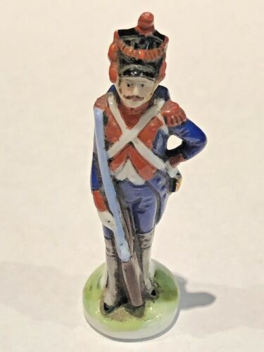 "SCHEIBE ALSBACH MINIATURE PORCELAIN SOLDIER FIGURINE, 2-3/8"" TALL, GERMANY"