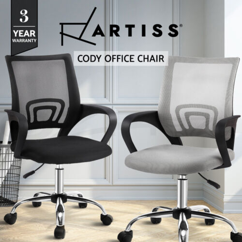 Artiss Gaming Office Chair Chair Computer Mesh Chairs Executive Black Grey <br/> Breathable Mesh / 3-Year Warranty / Padded Seat