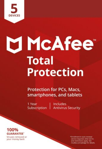 McAfee TOTAL PROTECTION 2020 3 Devices 1 Year Antivirus Mac Windows Android KEY