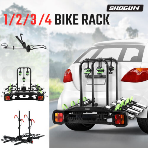 Bike Rack Bicycle Carrier Car Rear Holder Steel Towball Towbar Hitch Mount Lock