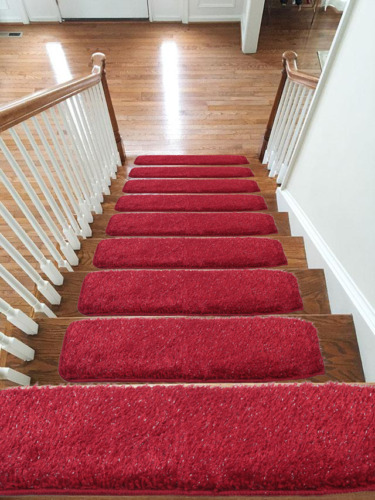Shaggy Glittter Stair Treads NON-SLIP MACHINE WASHABLE Mat/Rug/Carpet, 22x67cm <br/> ONLY EMMAHOME SALES IN UK, 100% MONEY BACK GUARANTEE