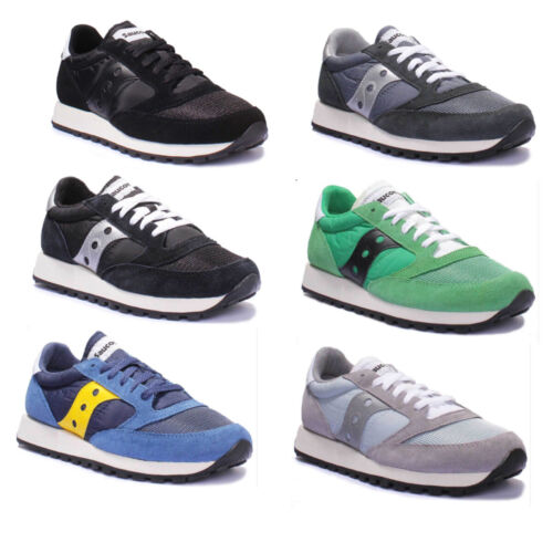Saucony Jazz Original Mens Suede Blue and Silver Fabric Trainers UK Size 3 - 8