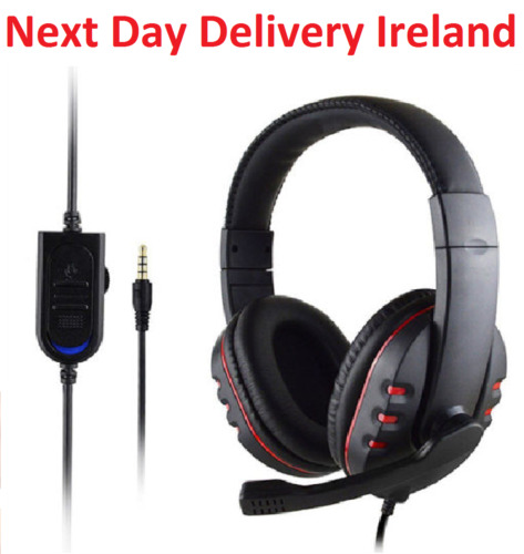 Gaming Headset Mic Stereo Surround Headphone 3.5mm Wired For PS4 PC Xbox one SPD