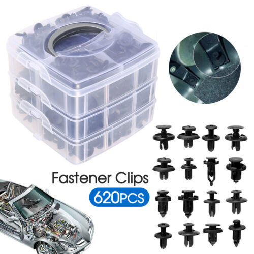 620PCS Car Trim Body Clips Kit Rivet Retainer Door Panel Bumper Plastic Fastener