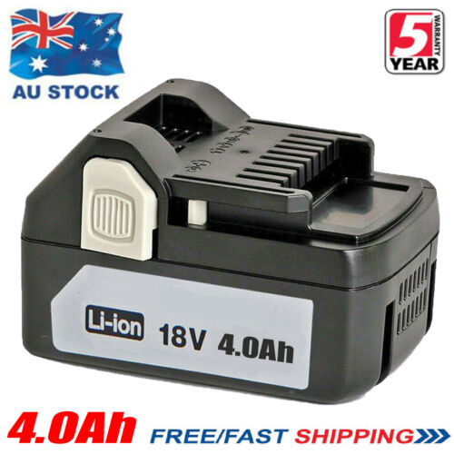 18V For Hitachi 4.0Ah Li-Ion Battery BSL1840 BSL1830 BSL1850 BSL1815 330068 Tool