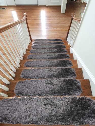 UltraSoft Shipskin New Carpet Stair Treads NON-SLIP MACHINE WASHABLE Mats/Rugs <br/> ONLY EMMAHOME SALES IN WORLD, 100% MONEY BACK GUARANTEE
