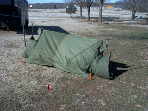 MILITARY SURPLUS 2 MAN MOUNTAIN TENT COLD WEATHER CAMPING BACKPACK ARMY NO POLESOther Military Surplus - 588