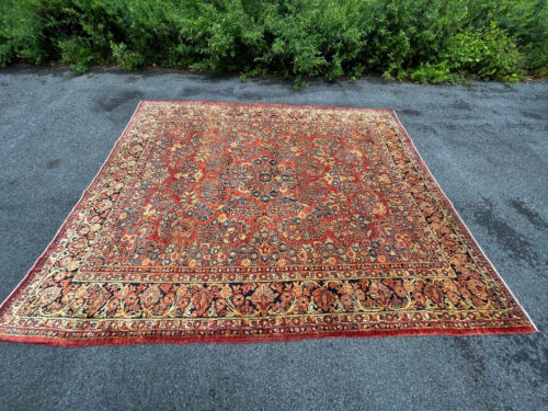 ANTIQUE  AMERICAN SAROUK RUG 8X10 FT CIR 1900