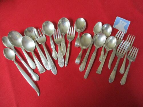 (20) Silverplate Infant/Baby Flatware Pieces, Mixed Lot    #22-3