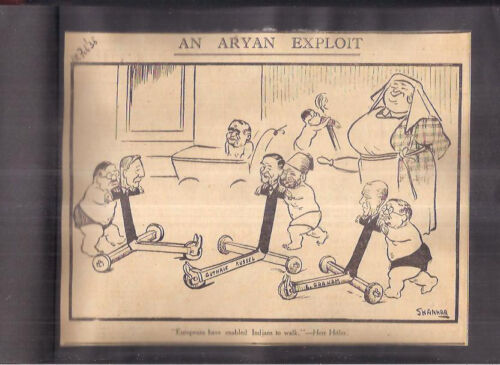 VERY RARE COLLECTION - SHANKAR'S CARTOONS - LOT OF 156 CUTTINGS - 1936