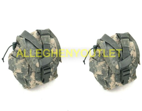 2 PACK Army ACU 1 Quart Canteen Pouch, Military MOLLE General Purpose GP, USGI Pouches - 158437