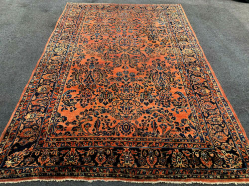 ANTIQUE  AMERICAN SAROUK  RUG 6x9 FT CIR 1900