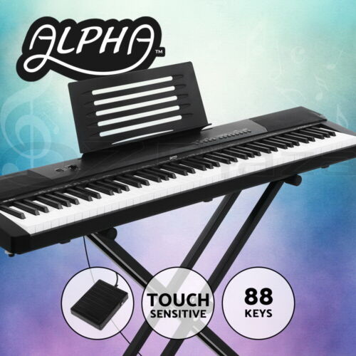 Alpha 88 Keys Digital Piano Keyboard Electronic Electric Keyboards + Stand