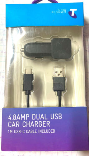 POWERBUG + TELSTRA_Wall USB Car Charger+Cable Package_New