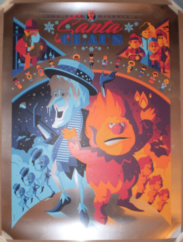 FOIL VARIANT Tom Whalen The Year Without A Santa Claus Print Poster Regular 2014