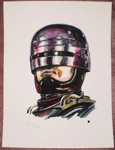 Tim Doyle Dead Or Alive Signed Giclee Print Robocop #d Poster Shiny Objects NEW