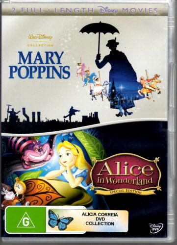 Mary Poppins  / Alice In Wonderland (2 DVD set) Pre-owned in good condition