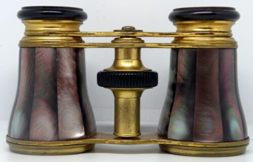 Beautiful & Stunning Antique Parisian Opera Glasses by LEMAIRE FT, Leather Case.