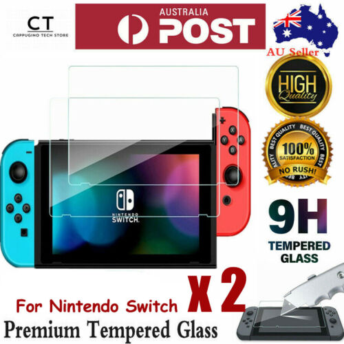 2 Packs Nintendo Switch Tempered Glass Screen Protector for Nintendo Switch
