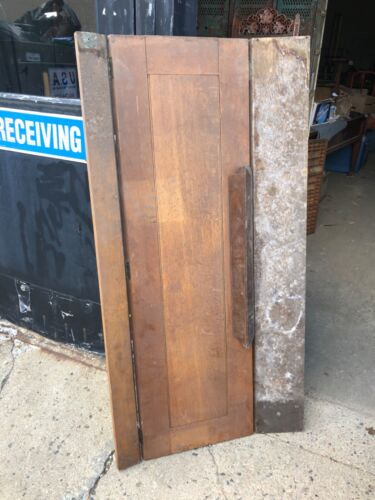 """vintage Quartersawn oak salvaged hinged plank from church 58.75"""" long x 30.5"""" w"""